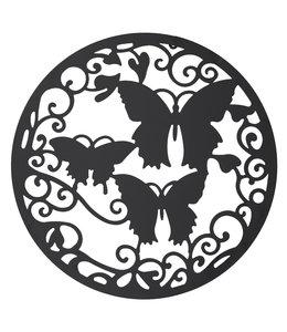 """Clayre & Eef  Wanddekoration aus Metall """"Schmetterlinge"""" Ø 60 cm"""
