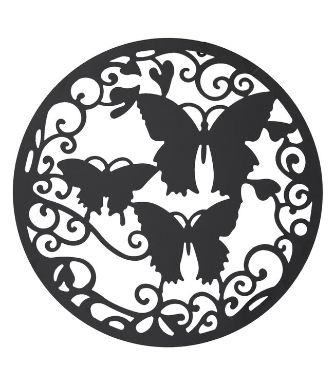 """Wanddekoration aus Metall """"Schmetterlinge"""" Ø 60 cm"""