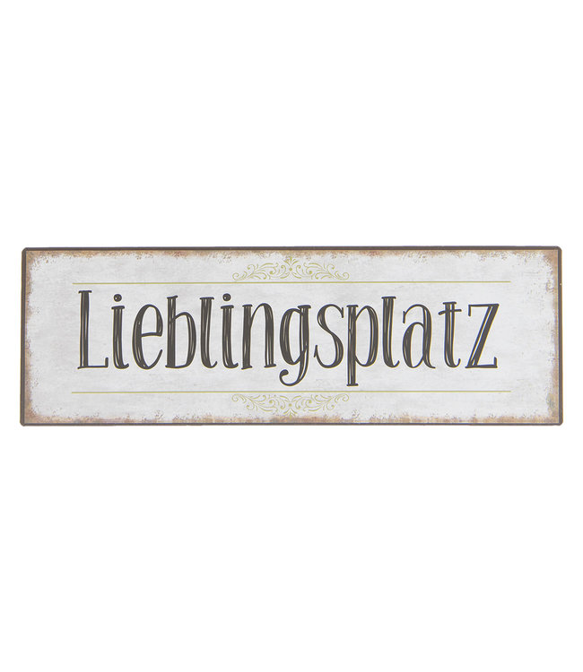 "Deko-Schild ""Lieblingsplatz"" 30x10"