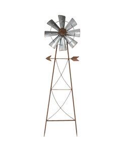 """Clayre & Eef  Gartenstecker """"Windmühle"""" 105cm"""