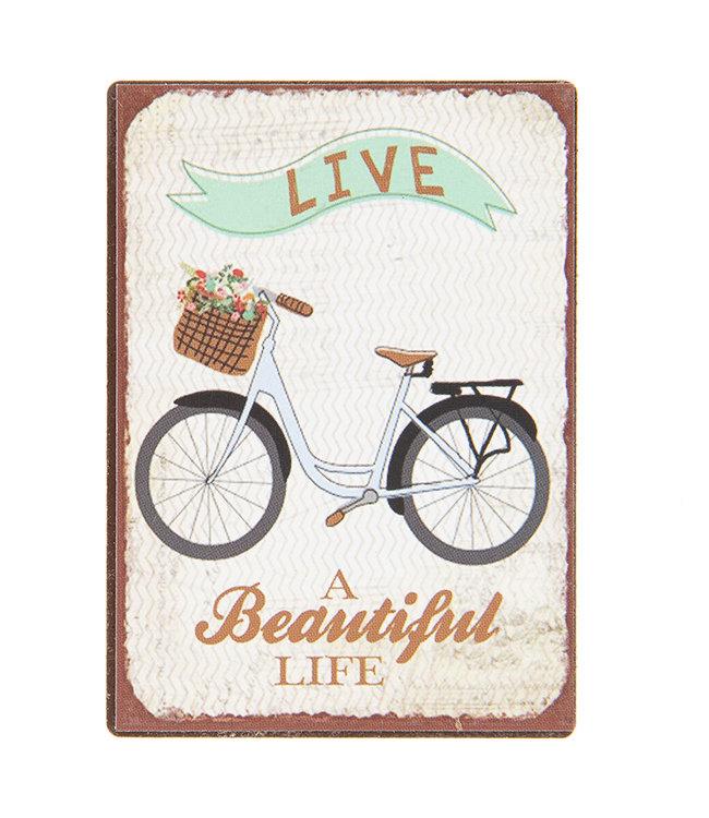 "Kühlschrankmagnet ""A Beautiful Live"""