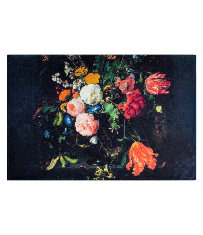 """Fußmatte """"Flower Power"""" Black Edition"""
