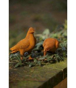 Zwei Tauben, Gartenfiguren im schönen Patina Flair