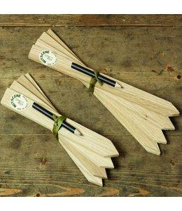 Pflanzenschilder Holz + Bleistift