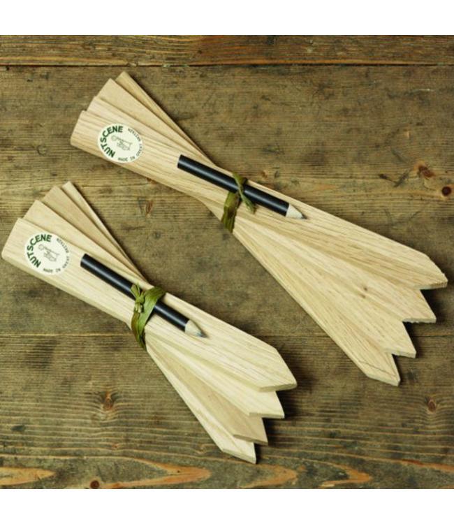 Nutscene Pflanzenschilder Holz + Bleistift