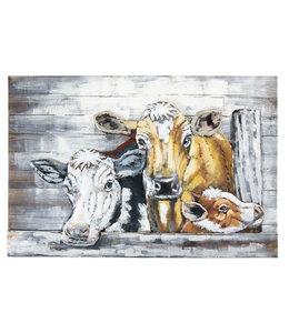 """Wandbild """"Kühe"""" im Landhaus-Stil 120x80"""
