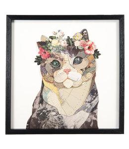 """Wandbild Vintage """"Katze"""" 50x50"""