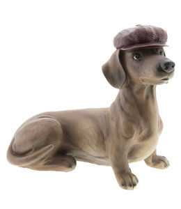 Deko Dackel mit Mütze