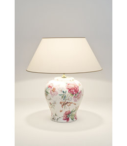 "Tischlampe ""Rosengarten"" Keramik"