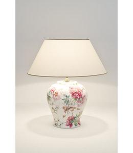 """Tischlampe Vintage """"Rosengarten"""" Keramik"""