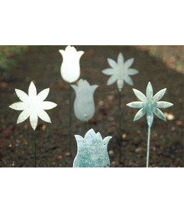 Gartenstecker Vintage Pflanzstecker verzinkt, 4er Set, 2 Motive