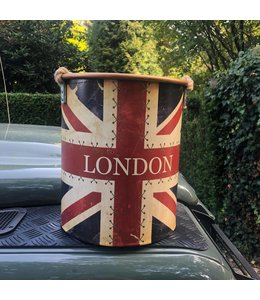 "Deko-Eimer ""London"" 3er-Set Vintage"
