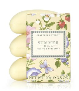 Crabtree & Evelyn Summer Hill 3-fach gemahlene Seife 3 x 100 g