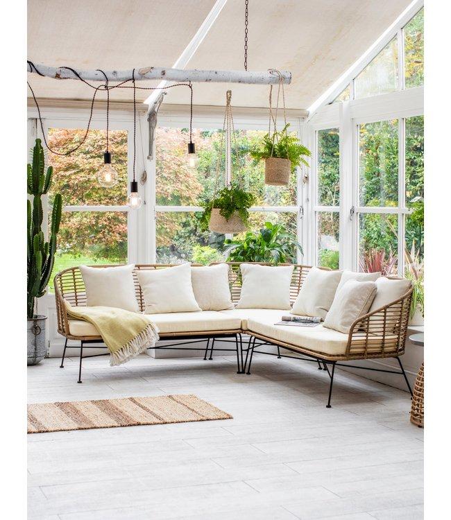 Ecksofa Bambusholz für Garten & Wintergarten