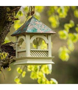 FUTTERHAUS Lindgrünes Vogelhaus mit Kupferdach