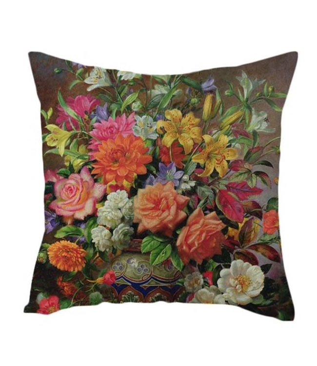 Kissenhülle Blumen-Mix, 45x45