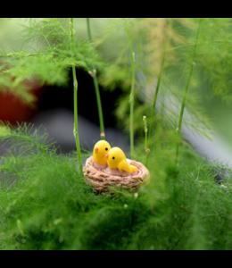 """Minigarten """"Vogelnest mit Vogelküken"""""""