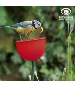 Futterbecher für Gartenvögel rot