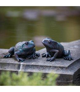 Gartenfiguren Guck mal, wer da quakt: Froschduo für den Gartenteich