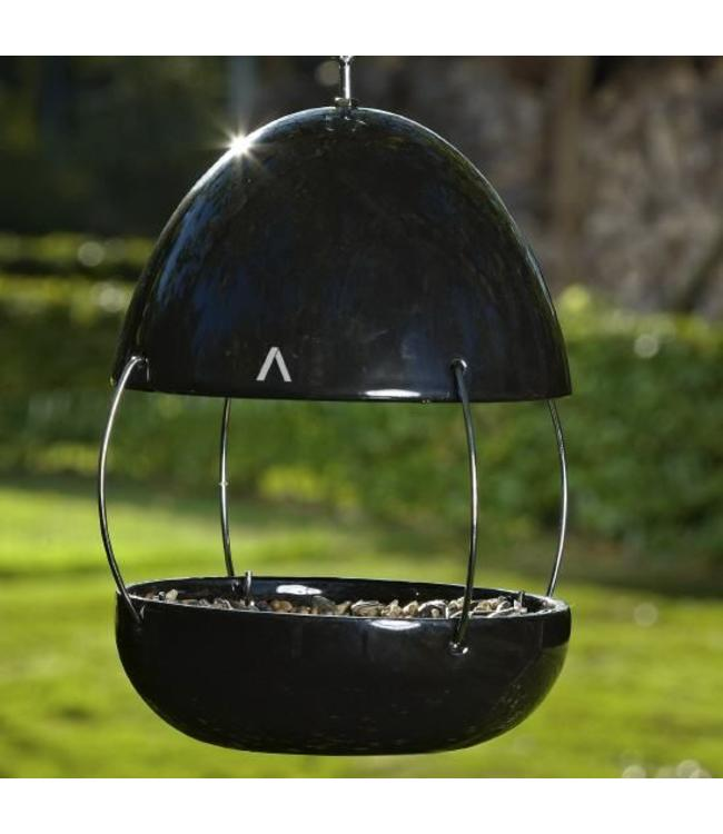 Vogelhaus Porzellan, schwarz