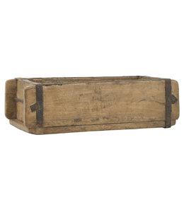Rustikale Holzkiste mit 3 Fächern