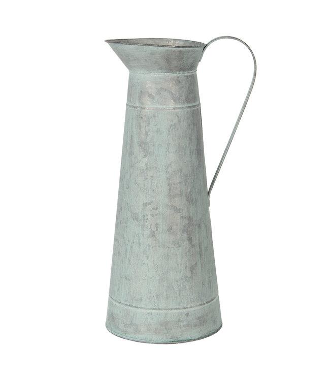 Große Deko-Kanne, Altgrün, Vintage