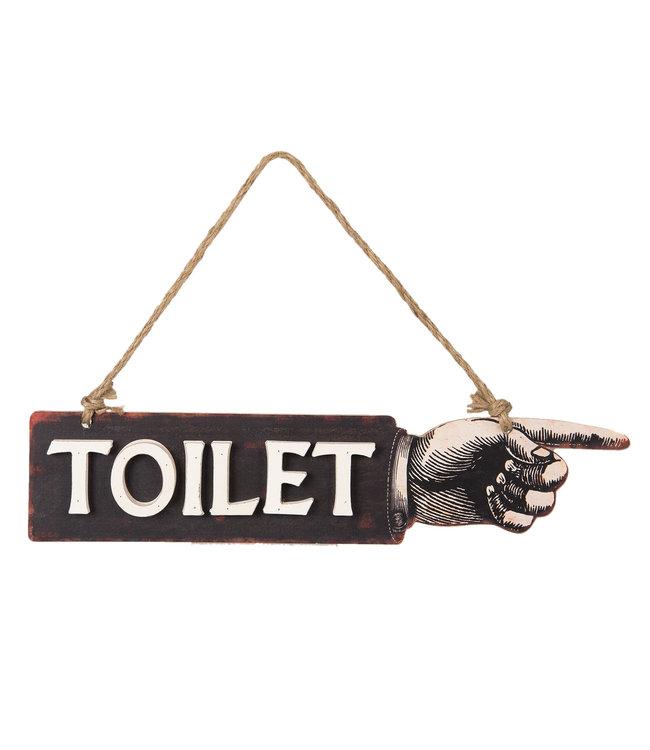 """Dekoschild """"Toilet"""" 39x8 Vintage"""