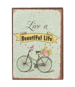 """Kühlschrankmagnet """"Live a beautiful Life"""""""
