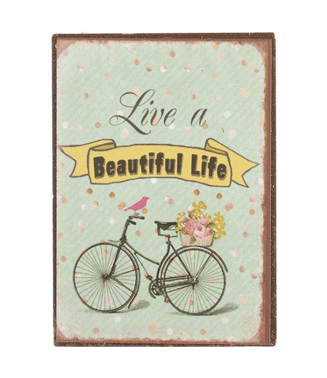 "Magnet ""Live a beautiful Life"" Vintage"