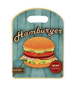 "Schneidebrett ""Hamburger"" Vintage"