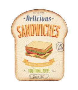 """Schneidebrett """"Sandwiches"""" Vintage"""