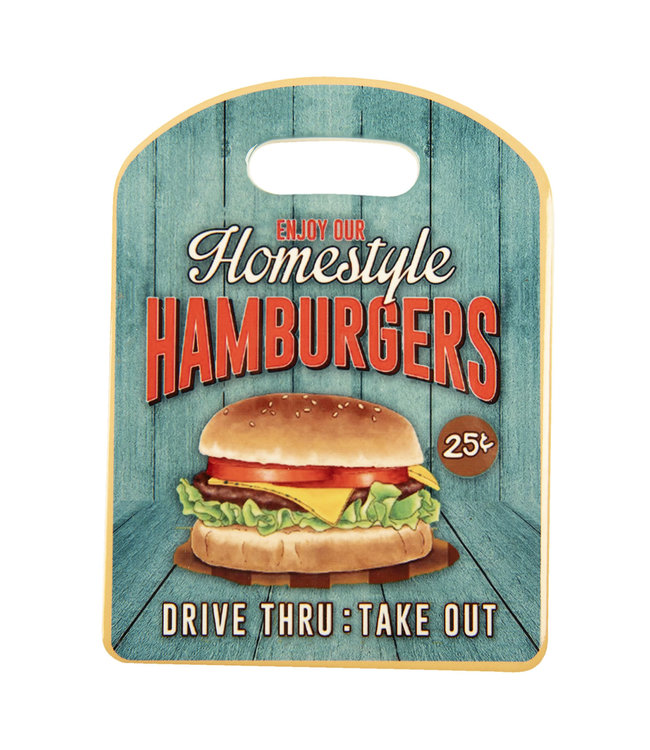 "Cottage Interiors Schneidebrett ""Homestyle Hamburger"""