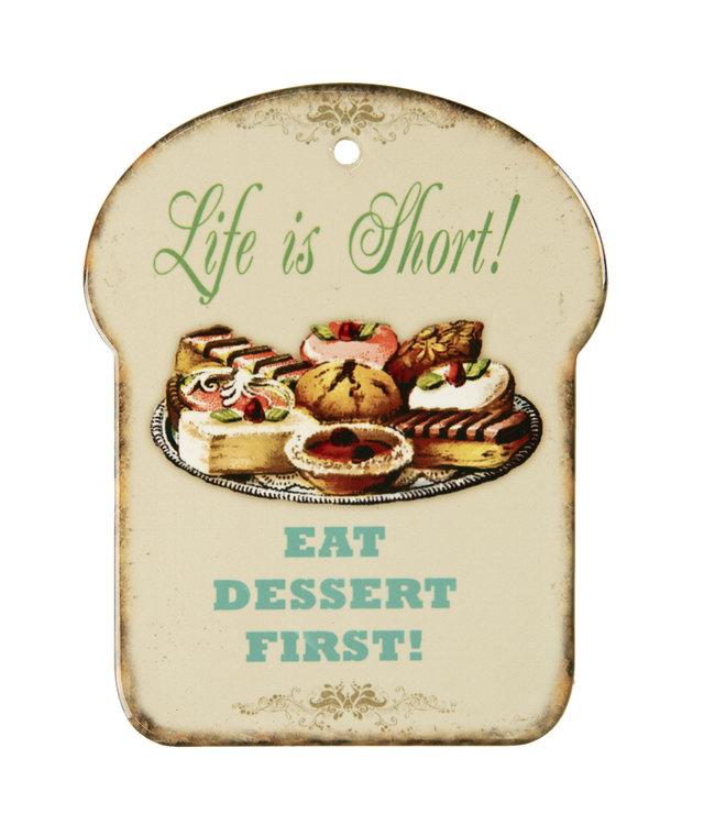 """Schneidebrett """"Dessert"""" Vintage"""