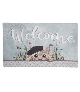 "Türmatte ""Welcome"" Katze"