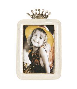 Bilderrahmen Vintage Bilderrahmen mit Krone, creme (Foto 5x8)