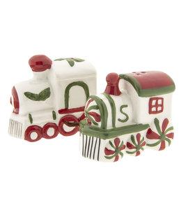 """Salz & Pfefferstreuer Vintage Salz- und Pfefferstreuer """"Lokomotive"""" Weihnachten"""