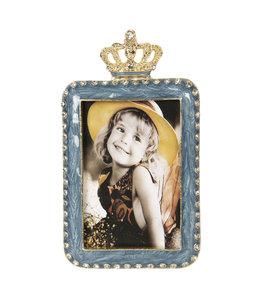 Bilderrahmen Vintage Bilderrahmen mit Krone, blau (Foto 5x8)