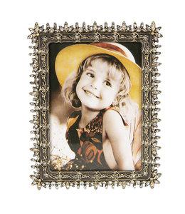 Bilderrahmen Vintage Bilderrahmen mit Schmucksteinen (Foto 8x10) silber