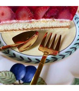 Dessertbesteck für Gartenfreunde, gold