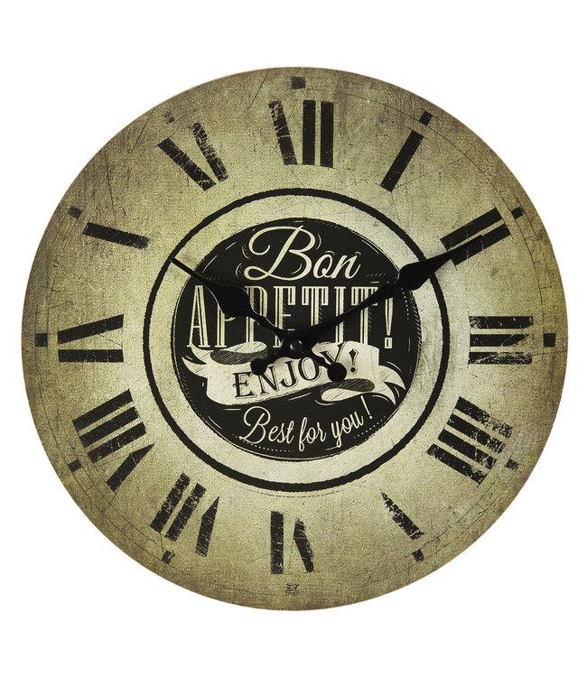 """Küchenuhr Vintage """"Bon Appetit"""""""