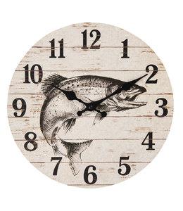 """Wanduhr """"Fisch"""" Ø 30 Vintage"""