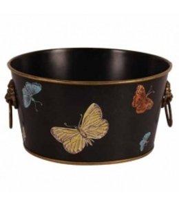 """Übertopf """"Schmetterlinge"""" Vintage Bronze, Messing (2 Größen)"""