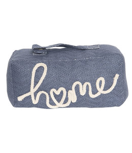 "Türstopper ""Lovely Home"" Vintage blau"