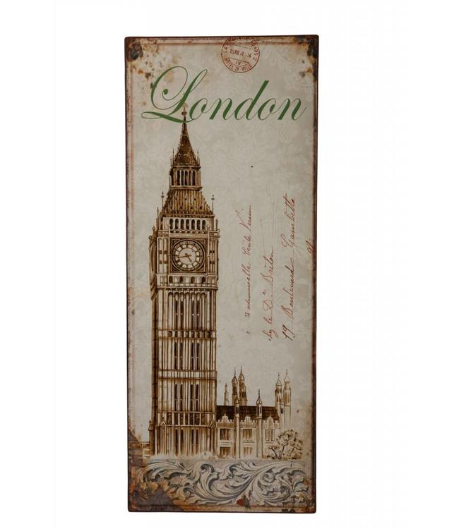 Metallschild London
