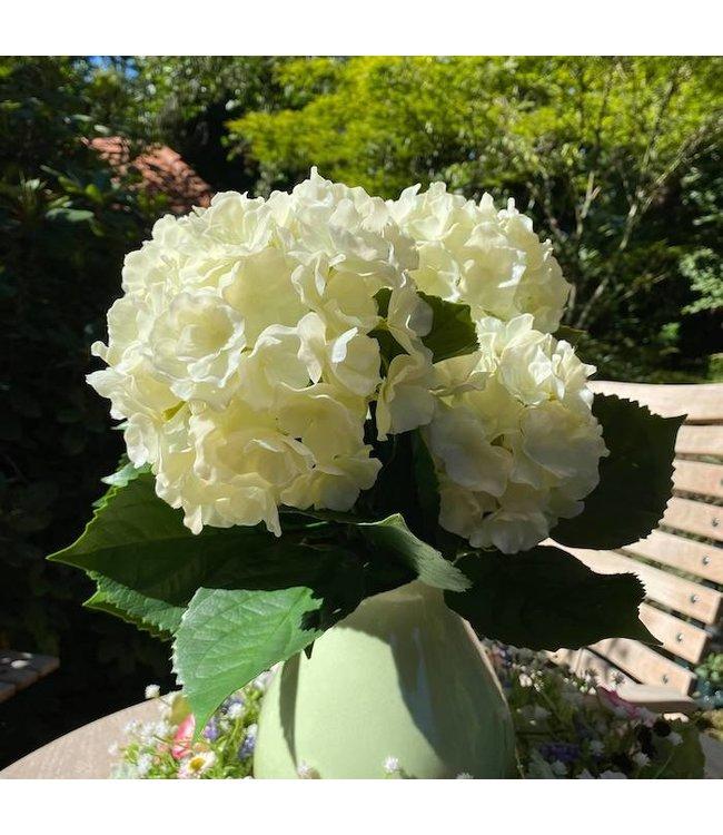 Hortensie künstlich, weiß, UV-sicher