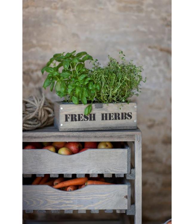"""Kräuterbox Landhaus """"Fresh Herbs"""" Fichtenholz"""