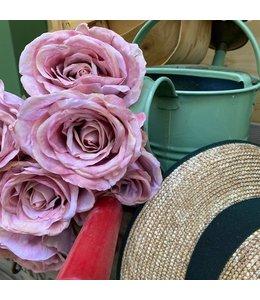 "Kunstblumen Vintage Kunstrose ""abblühend lila"""