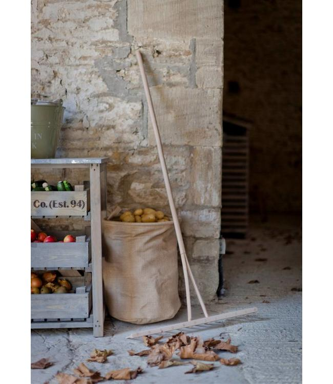 Rustikaler Gartenrechen Buchenholz