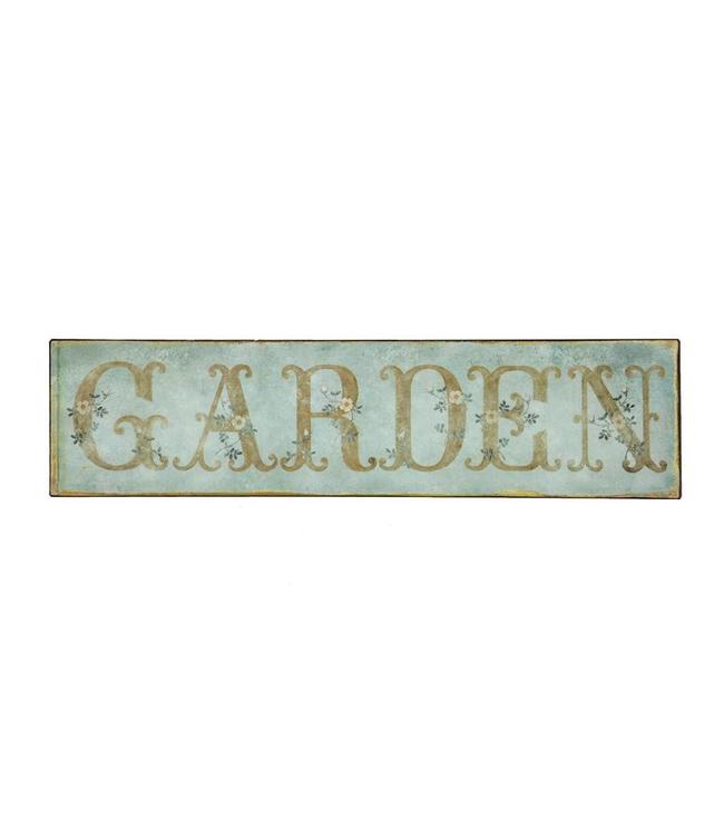"""Deko-Schild """"Garden"""" Vintage"""