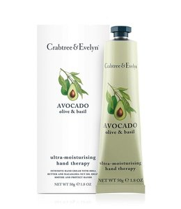 Crabtree & Evelyn Avocado, Olive & Basil Hand Therapy Handcreme 50 g